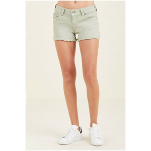 True Religion Women's Low Rise Denim Cutoff Shorts